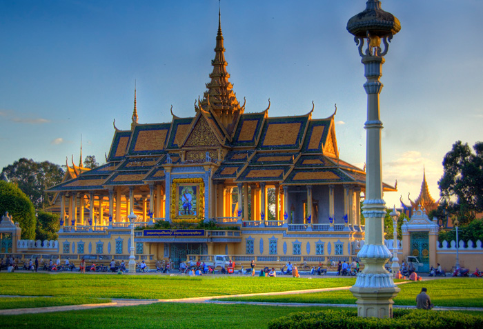 Silver Pagoda and Royal Palace in Cambodia